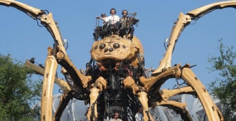 L'araignée géante invitée du Nantes Maker Campus